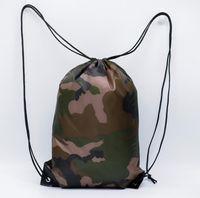 Portable sac à cordonnet haute capacité de camouflage extérieur Tirage au sort sac de corde unisexe sac à dos étanche chaussures cordon entraînement de fitness sac