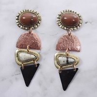 Geometric Triangle Metal Earrings Women Jewelry Boho Ethnic ...