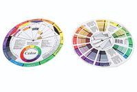 Tekerlek Rehberlik Yuvarlak merkez Çember döndürür Dövme Tırnak Pigment Karıştırma Sıcak Güzellik Uzmanı 12 Renk Kağıt Kart Üç katmanlı Tasarım rengi