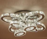 современный дизайн большие хрустальные люстры светодиодные лампы ac110v 220 В люстра светодиодов потолочный светильник фойе огни LLFA