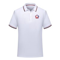 Мужчины Lille LOSC футбол Поло рубашка футбол с коротким рукавом поло рубашка летняя мода обучение рубашки поло спорт футбол Джерси мужские Поло