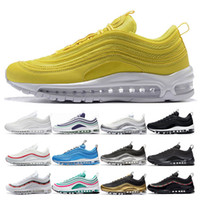 Hombres 2019 Mujeres Zapatillas de deporte amarillas South Beach Metalic Gold Black White Sliver Bullet Triple White Black Designer Sport Sneakers Trainers