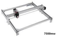 50*65cm Mini 7500MW Blue CNC Laser Engraving Machine 2Axis DC 12V DIY Engraver Desktop Wood Router Cutter Printer+ Laser Goggles
