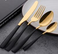 Set di posate da tavola in acciaio inossidabile Set di posate da tavola in acciaio inossidabile Set di posate per piatti in acciaio inossidabile