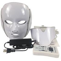 Pdt 7 led ضوء العلاج الوجه آلة الجمال الصمام الوجه الرقبة قناع مع مكركرنت للبشرة تبييض تجديد المعدات شحن مجاني