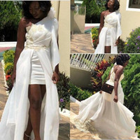 2019 Arabic African Dress Plus Size Short Prom Dresses Party...