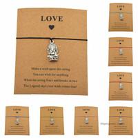 Lucky Handmade Ганеша Будда Животное Слон Очарование Восковые Шнуры Браслеты Для Женщин Мужчин Любовника Пара Сделать Любовь Ювелирные Изделия Карты