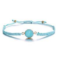 VSCO Ragazze 2019 colori popolari Bohemian tessuti a mano braccialetto pietra di cristallo del braccialetto di amicizia braccialetto colorato tallone miscela B021 all'ingrosso
