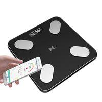Balanças electrónicas corpo Escala de Saúde Fat Scale Household Corpo de vidro temperado Escalas Accurate li pin cheng Bateria Peso Escala