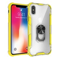 Magnetic Hybrid armor case with 360 ring holder for iphone x...