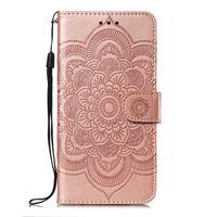 Mandala Embossing Cover dla Xiaomi Redmi 6 / Redmi 6a / Redmi 6 Pro / Redmi Go Case Flip Stand PU Leather Portfel Torby do telefonów komórkowych