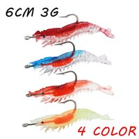 10pcs lot 6cm 3g Soft Shrimp Fishing Lure PVC Fishing Bait 4...