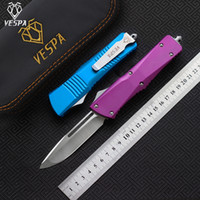 quality shipping survival Handle:Aluminum,Outdoor 6 knives Blade:D2(S E tools,Free Knife colors VESPA Satin) EDC camping High Lqxss
