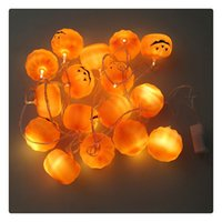 LED Stringhe 16pcs LED Halloween Pumpkin Holiday Decoration String Lights DurablePer uso quotidiano Sicuro e affidabile Basso consumo