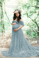 Mutterschaftsfotografie Requisiten Schwangerschaftskleid Fotografie Kleidung für Fotoshooting schwangeres Kleid Spitze Maxi-Kleid