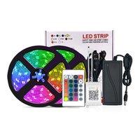 Background Faixa de LED Set 5050RGB Com RF IR Bluetooth Música Controlador Flexível Luz Para TV Lâmpada Fita Led Tape IP65 SEA1970