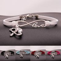 Fashion ice Hockey Sports charm bracelets women infinity Lov...