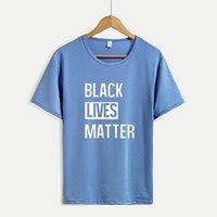 SİYAH Kadınlar Yeni Geliş Kısa Kollu T-shirt Erkek Harf Baskı Tops Casual Outsoorwears Oversize Sıcak Satış Womens MADDE tişörtleri LIVES