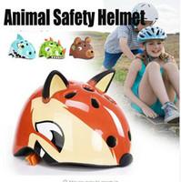 Dinosaur Bicycle Helmet Criança bicicleta Urso Chipmunk Fox Skate Scooter Ciclo