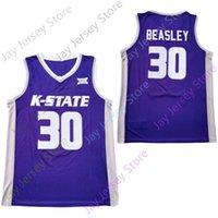 2020 Yeni Kansas Eyalet Wildcats Koleji Basketbol Jersey NCAA 30 Beasley Mor Siyah Tüm Dikişli ve Nakış Erkekler Gençlik Boyutu