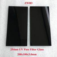 Filtro Passaggio UV ZWB3 253.7 254nm UG5 200x100x3.0mm Visibile Light tagliato vetro nero per 304nm 302nm 365nm Transilluminatore UV.