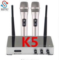 Microfono Karaoke wireless portatile Karaoke player Home Echo Mixer System Digital Sound Audio Mixer Macchina da canto K5