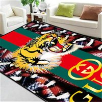 Snake And Tiger Print Mat Man And Women Rectangle Quality Ca...