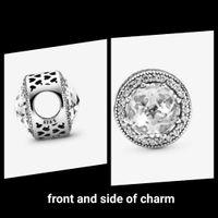 925 Стерлинговые серебряные бусины сверкающие белые ромашки Charm Charms подходит европейские для ювелирных изделий в стиле Pandora