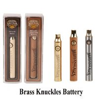 2019 Brass Knuckles Batterie 650mAh 900mAh Variable Voltage Vorheizen E-Zigarette Batterie Stift Für 510 Thraed Thick Oil Cartridge Vape Batterie