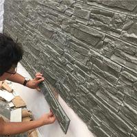 3D 벽 패널 거실 3D 벽돌 돌 벽 종이 아이 방 침실 홈 장식 3D 방수 자체 접착 벽지