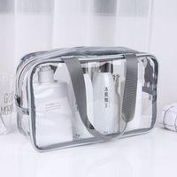 투명 PVC 가방 여행 주최자 명확한 메이크업 가방 미용사 화장품 가방 미용사 화장품 가방 미세한 화장품 가방 메이크업 파우치 워시 가방 VT0077
