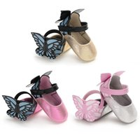 Baby Girls Shoes Butterfly Cartoon Cute Newborn Baby Princes...
