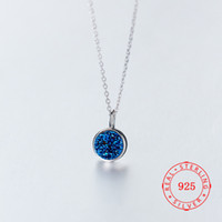 charm 9 mm round pendant necklace for girls genuine 925 ster...