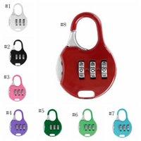 مصغرة قفل 3 الطلب أرقام كلمة المرور مزيج أقفال الأمتعة رمز معدني قفل السفر رياضة خزانة باتري صالح 8 ألوان بالجملة DSL-YW3044