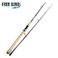 REI PEIXES 99% Carbono 2.1 M 2.4 M 2.7 M 2 Seção Isca Macia Vara De Pesca Isca de Peso 3-50g Fiação Vara De Pesca Para Isca de Pesca