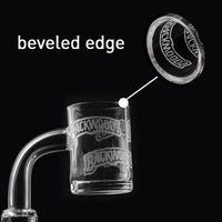 Narghilè vetro 25mm Edge smussato Banger stile sabbiato stile 4mm spessore al quarzo al quarzo secchio 14mm per unghie per acqua Bong