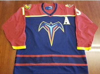 ee82a3743 New Arrival. Customize Vintage Atlanta Thrashers Dany Heatley Hockey Jersey  Embroidery Stitched or custom any name or number ...