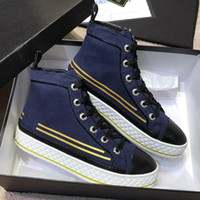 2019 Casual Womens Mens High- top Shoes Trainers Fabric & Lam...