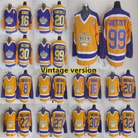 Los Angeles Kings Vintage version jerseys 99 GRETZKY 16 DION...