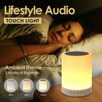 Gece lambası Bluetooth Hoparlörler ile Taşınabilir Kablosuz Hoparlör Dokunmatik Kontrol Renk LED Başucu Masa Lambası