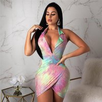 Women Summer V Neck Sexy Bcakless Sleeveless Fashion Clothin...
