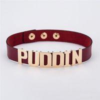 Suicide Squad Harley Quinn Puddin Gargantilha colares Pescoço para colares de couro Womem Colares Punk Jewelry Drop Ship