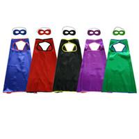 70 * 70 cm tek katmanlı düz süper kahraman pelerin + maske 3-10 yaşında çocuklar için 5 renkler tema cosplay Cadılar Bayramı Süper Kahraman Kostümleri çocuk