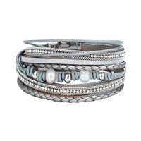 Vintage Design Multilayer Bracelet en cuir pour femmes hommes Bohême Plage Perle Perle Charm Bracelets Wrap Bracelet Femme Mode Bijoux