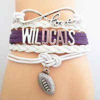 Jewelry Infinity Love Wildcats Football College Team Bracele...