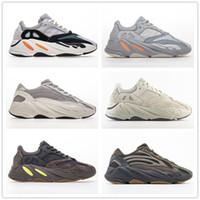 700 V2 Statik 3M Leylak Dalga Runner Atalet Tuz Geode ile Kutusu Erkek Kadın Kanye West Katı Gri Üçlü Sport Sneakers Ayakkabı Koşu