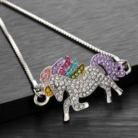 Nueva Llegada de Alta Calidad Joyería de Moda Womne Pulseras Unicornio Pulsera Animal Femme Multicolor Accesorios Infantiles