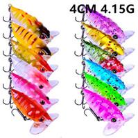 12 kleur 4 cm 4,15 g cicade vissen haken vishoeken 10 # haak hard aas lokt visgerei B-002