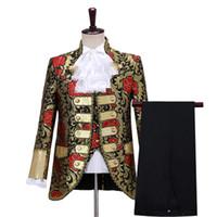 Prinz Jacke Königsmens Zeit mit Hose Kostüm Mittelalterliche Anzug Bühnenaufführung / Prince charming Fee William / Bürgerkrieg / Colonial