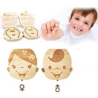 الأسنان الإسبانية اللغة الإنجليزية صندوق لأسنان الطفل حفظ الحليب بوي بنات صورة صناديق الخشب التخزين الاطفال الرضع الأسنان حالة الإبداعية هدية 10 أنماط A122605